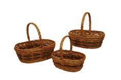 3 Piece Tuscana Wood Chip Handled Basket Set