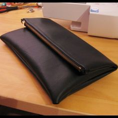 DIY leather clutch/pouch