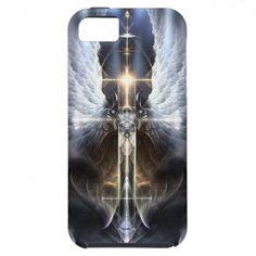 Heavenly Angel Wing Cross Fractal iPhone 5 Case. $52.95 #xzendor7 #fractal #digitalart #fractalart #geometricart #fringe