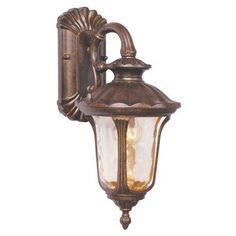 Livex Oxford 7651-50 Outdoor Hanging Wall Lantern - 16.25H in. Moroccan Gold - 7651-50