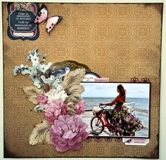 I love this collection, 'Ma Cherie' by Kasiercraft. Kaisercraft Products : Ma C. Scrapbooking Layouts, Scrapbook Pages, Rustic Shabby Chic, Clear Stickers, Antique Roses, Gold Paint, Clear Stamps, Projects To Try, Lay Outs
