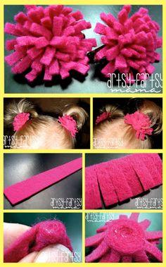 Cute Hair Fashion Pom pom tutorial by Artsy Fartsy Mama