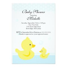 Cute Baby Duck Baby Shower Invitation