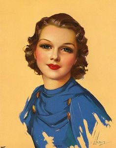 Some serious 1930s glam going on in this Jules Erbit illustration