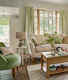 Casinha colorida: Cottage Chic: o poder do verde