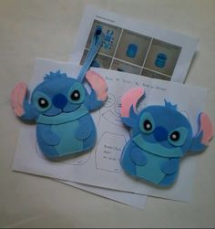 Diy kit..Stitch Felt Mobile Pouch