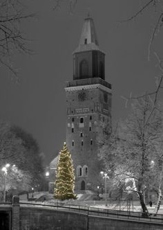 One of my favourite photo of Turku Cathedral - main landmark in Finland Vesa Loikas Photography Cities In Finland, Finland Travel, Beautiful Winter Pictures, Beautiful World, Beautiful Places, Turku Finland, Cathedral City, Kirchen, Vacation Spots