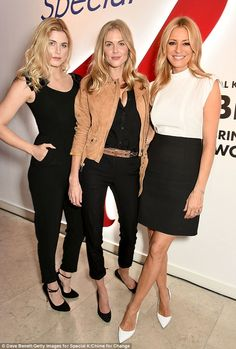 Fashionable pals:Inside the bash, Donna - who has a daughter Freya, 12 from a previous lo...