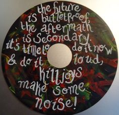 The Future Is Bulletproof - My Chemical Romance -  Painted Vinyl Record by valderie, $12.00