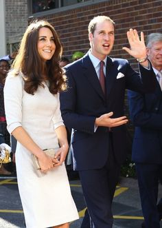 I always love an all white suit. Kate Middleton, Prince William Thank Hospital Staff in Statement