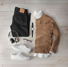 11 Insanely Cool Outfit Formulas For The Fall - Fall Outfits Casual Wear, Casual Outfits, Men Casual, Smart Casual, Casual Shoes, Mode Outfits, Fashion Outfits, Fashion Men, Fashion Sale