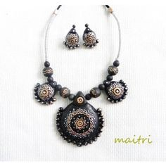 Terracotta Jewellery_The Black Magic 2 - Online Shopping for Necklaces by Maitri CraftsTerracotta  https://www.facebook.com/maitricrafts.maitri https://www.facebook.com/maitri.crafts maitri_crafts@yahoo.com