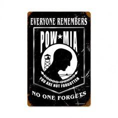 POW BLACK Metal Wall Sign (12X18) - Meach's Military Memorabilia & More
