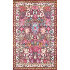 Shop for Multicolor Floral Polypropylene Palazzo Rug (5' x 8'). Get free shipping at Overstock.com - Your Online Home Decor Outlet Store! Get 5% in rewards with Club O!