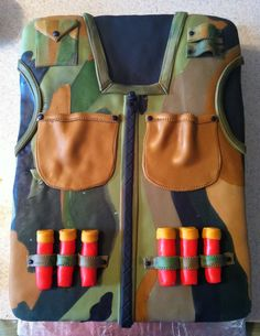Camo Hunting Vest  on Cake Central