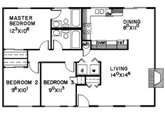 The Winterspring Cottage Ranch Home has 3 bedrooms and 2 full baths. See amenities for Plan 085D-0062.