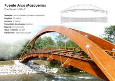 Passerelle Bois. Pont Bois. Passerelle piétonne. Bois Lamellé Collé (BLC). www.mediamadera.com