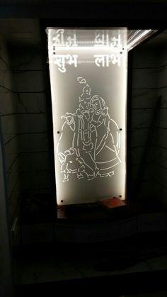 Radha keishna design for temple on acrylic cutting