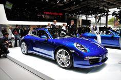 2013 Porsche 911 Carrera 4/4S Coupe in my fave color Cobalt Blue.