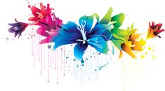 Colorful Flower Vector Clipart PNG 02 By BrielleFantasy On ...