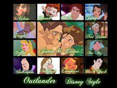 """""""Disney Style"""" Outlander"""