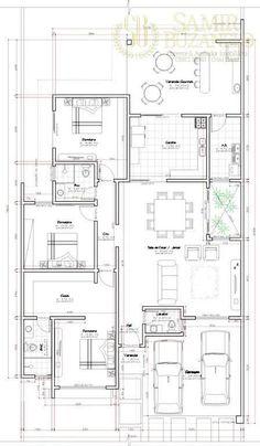 Bungalow Floor Plans, Modern Bungalow House, Home Design Floor Plans, Duplex House Plans, House Layout Plans, New House Plans, Dream House Plans, House Layouts, House Floor Plans