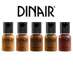 Dinair Airbrush Makeup Eyeshadow Smokey Eye Collection -- Find out more about the great product at the image link. (This is an affiliate link) Airbrush Makeup, Makeup Eyeshadow, Makeup Cosmetics, Makeup Brushes, Eyeliner, High Definition, All Natural Makeup, Dark Skin Makeup, Dark Skin Tone