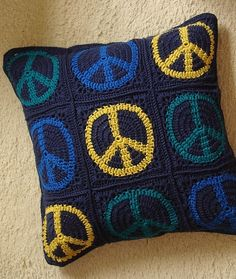 Ravelry: Project Gallery for Peace Sign Granny Square pattern by JudyK