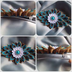 and love the combination of turquoise and brown - and you? new clip in my store Etsy
