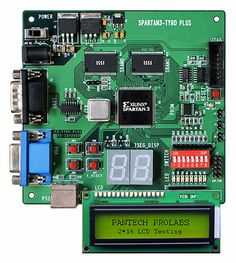 The Spartan-3 EDK Board provides a powerful, self-contained development platform for designs targeting the new Spartan-3 FPGA from Xilinx. It features a 200K gate Spartan-3, on-board I/O devices, and 1MB fast asynchronous SRAM, making it the perfect platform to experiment with any new design, from a simple logic circuit to an embedded processor core.