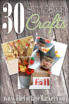 30 Fall Decor Craft Projects DIY's that are Easy and Fun