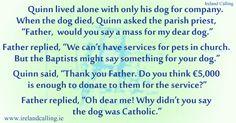 Irish humour... religion