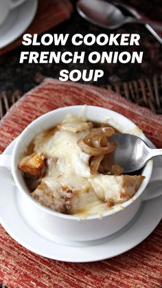 Crock Pot Slow Cooker, Slow Cooker Recipes, Crockpot Recipes, Soup Recipes, Cooking Recipes, French Onion Soup Recipe Slow Cooker, French Soup, Great Recipes, Favorite Recipes