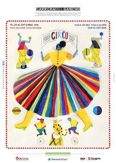 Jesús Cisneros firmó el cartel de La Carrera del Gancho 2015. La Carrera («carrera», calle en aragonés) son dos días de fiesta en la calle, que celebran la diversidad cultural del barrio del Gancho de Zaragoza con música, danza, teatro, arte urbano…