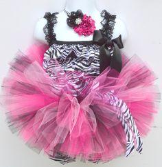 Hey, I found this really awesome Etsy listing at https://www.etsy.com/listing/203831636/the-jordan-hot-pink-black-zebra-tutu-set