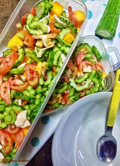 Ensalada  or salad is usually a healthy mixture of several ingredients together - particularly greens, vegetables and fruits. The more comm...
