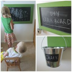 Easy tutorial for play room chalk board. (I also want to add magnent before painting).
