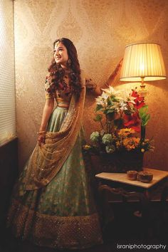 We Can't Stop Admiring This Bride's Beauty & Her Hot Pink Sabyasachi Lehenga Indian Bridal Outfits, Indian Bridal Fashion, Dress Indian Style, Indian Dresses, Indian Clothes, Lehnga Dress, Lehenga Choli, Sari, Bridal Lehenga Collection