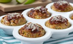 Apple Cheddar Chicken Meatloaves