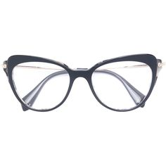 Miu Miu Eyewear classic cat-eye glasses (5.715 ARS) ❤ liked on Polyvore featuring accessories, eyewear, eyeglasses, black, cat-eye glasses, miu miu, miu miu glasses, cat eyeglasses and miu miu eyeglasses