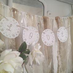 Paper Doily Wedding Garland Rustic Wedding by DenaDanielleDesigns, $8.00