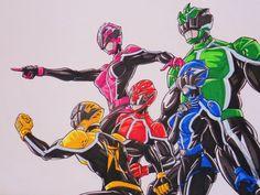 Shockenger team, let's go!!! by kishiaku.deviantart.com on @deviantART