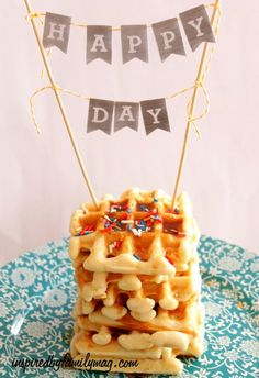 Simple Birthday Tradition: Waffle cake birthday tradition