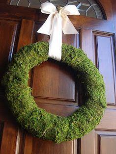 simple moss wreath