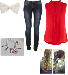"""""""School day"""" by simone-nielsen-1 ❤ liked on Polyvore"""