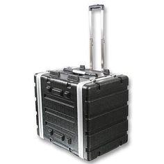 NEW-PA-DJ-8RU-Portable-Equipment-Rack-Mount-Storage-Case-on-wheels-19-034-Stage-8u