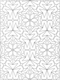 Creative Haven Geometric Allover Patterns Coloring Book | Doodles ...