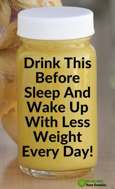 Drink This Before Sleep And Wake Up With Less Weight Every Day! - Simply Drink This Before Sleep And Wake Up With Less Weight Every Day! This powerful weight loss dr - Fat Loss Drinks, Fat Burning Detox Drinks, Diet Drinks, Healthy Drinks, Healthy Foods, Beverages, Eating Healthy, Healthy Living, Healthy Recipes