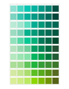 Green Color Chart I Betcha Have Just About All Of These From Sample Pots