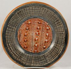 Vintage Mexican Ceramic Dish Hand Painted Hanging Mexico Folk Art Tonala!